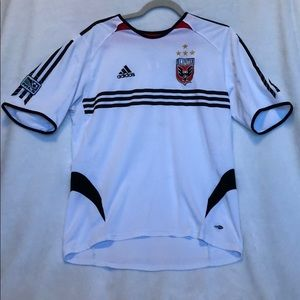D.C. United White Jersey Adidas ClimaCool